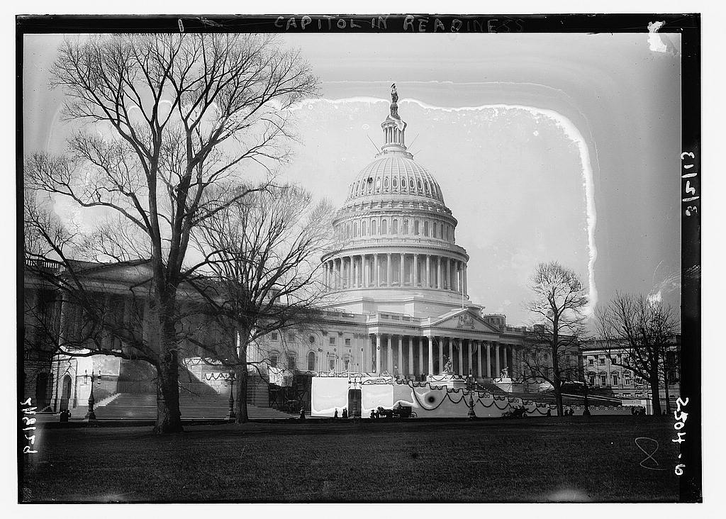 8 x 10 Photo of Capitol in readiness 1913 G. Bain Collection 53a