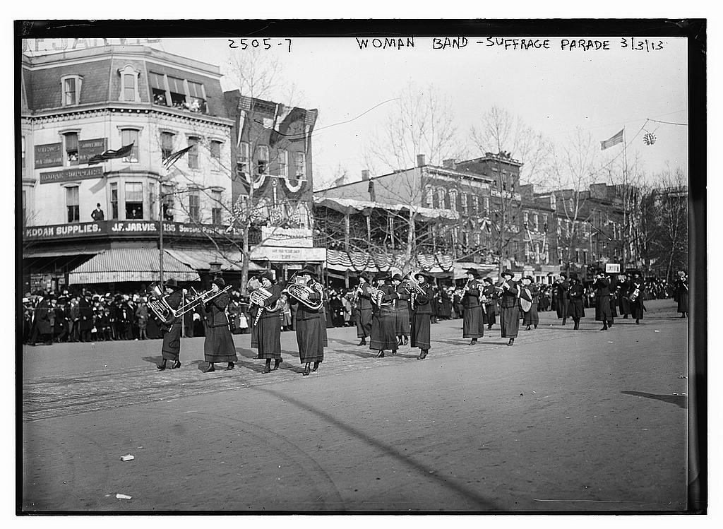 8 x 10 Photo of Woman band Suffrage parade 1913 G. Bain Collection 65a