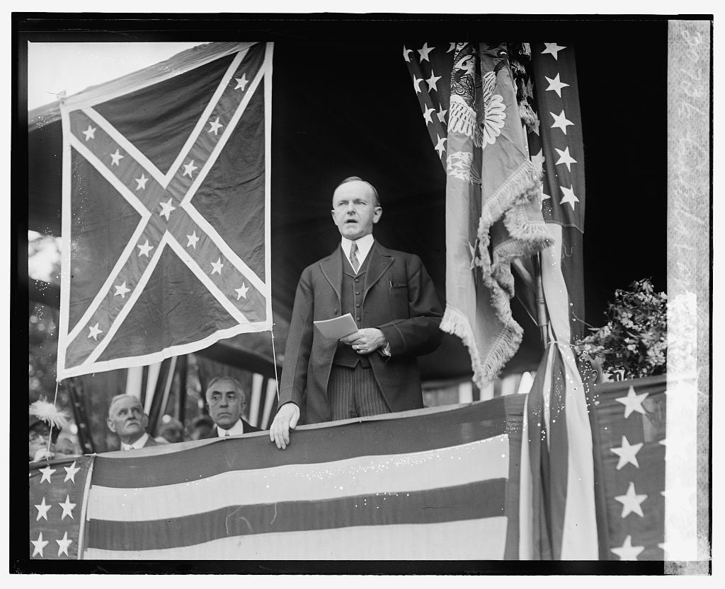 16 x 20 Gallery Wrapped Frame Art Canvas Print of Coolidge at Arlington, 5/25/24 1924 National Photo Co  58a