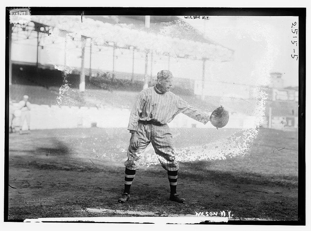 8 x 10 Photo of Art Wilson, New York NL baseball  1912 G. Bain Collection 78a