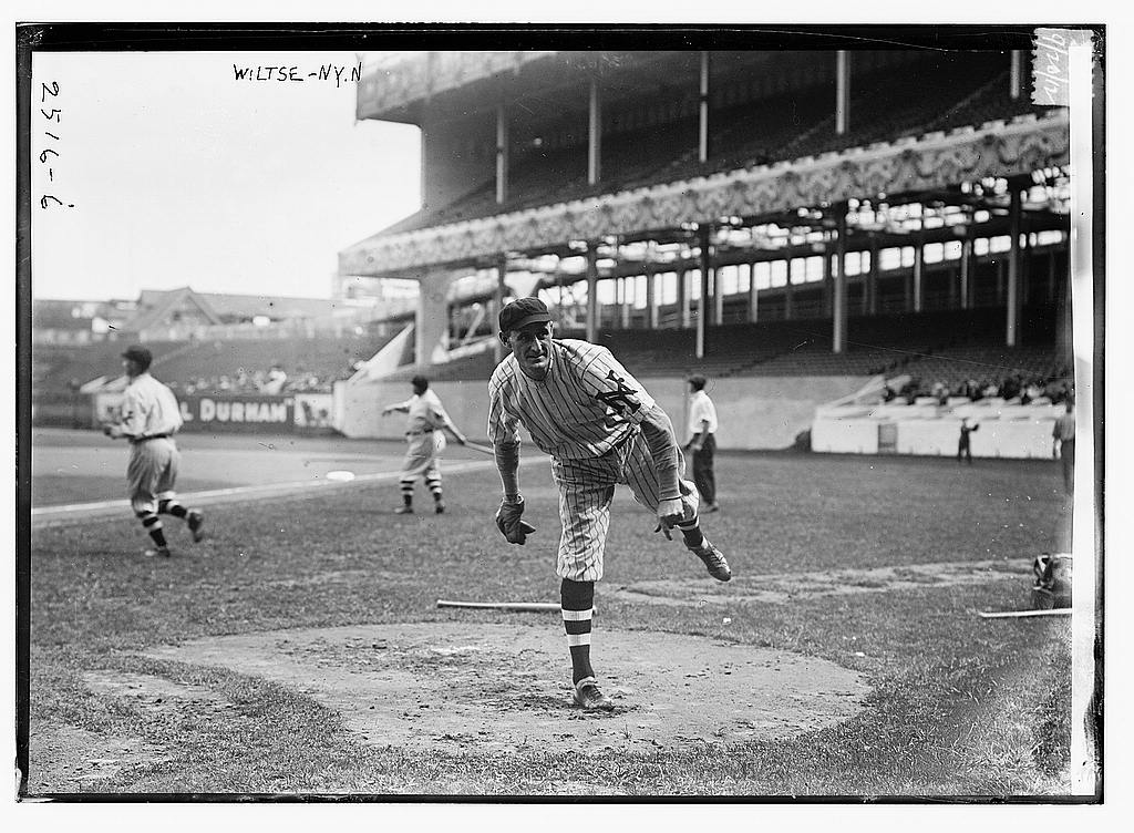 "8 x 10 Photo of George ""Hooks"" Wiltse, New York NL baseball  1912 G. Bain Collection 89a"
