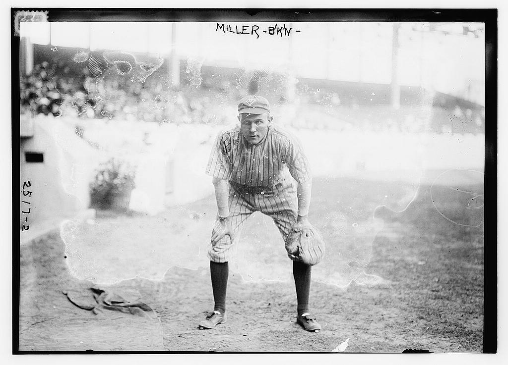 8 x 10 Photo of Otto Miller, Brooklyn NL baseball  1912 G. Bain Collection 97a