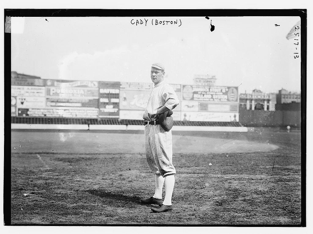 8 x 10 Photo of Hick Cady, Boston AL, at Fenway Park, Boston baseball  1912 G. Bain Collection 02a