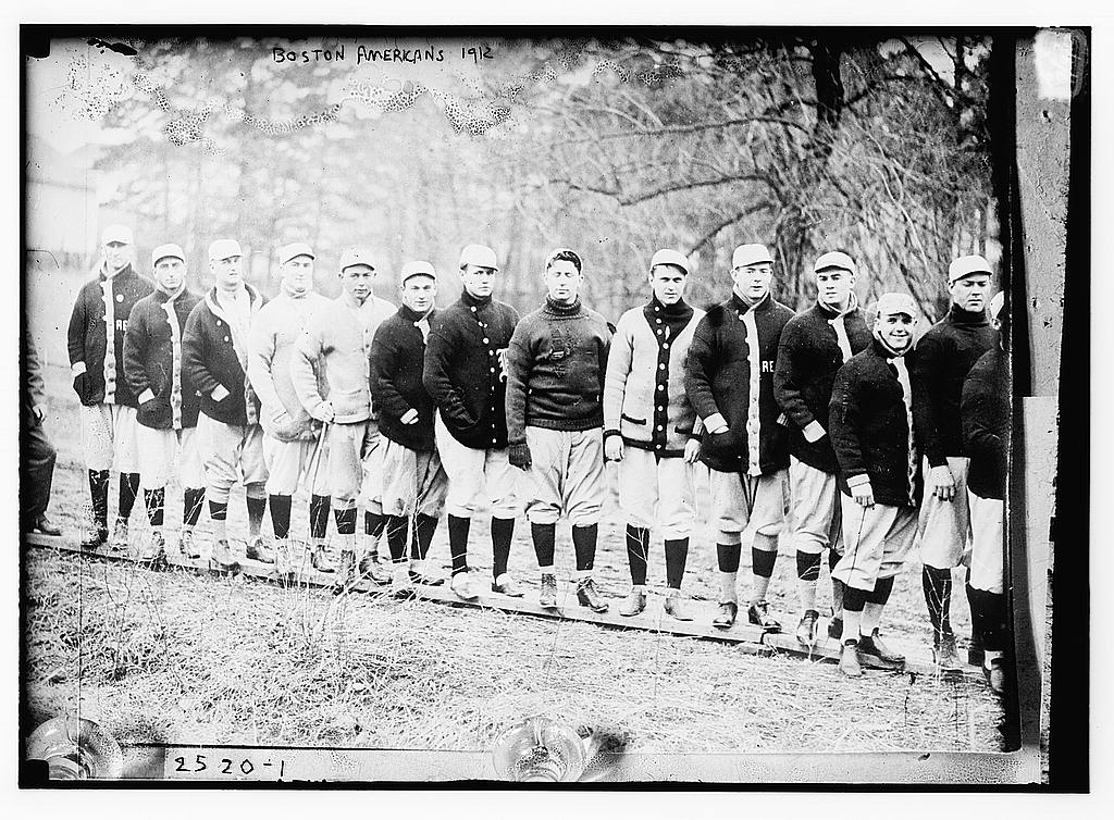 8 x 10 Photo of Red Sox at spring training, Hot Springs, AR baseball  1912 G. Bain Collection 04a