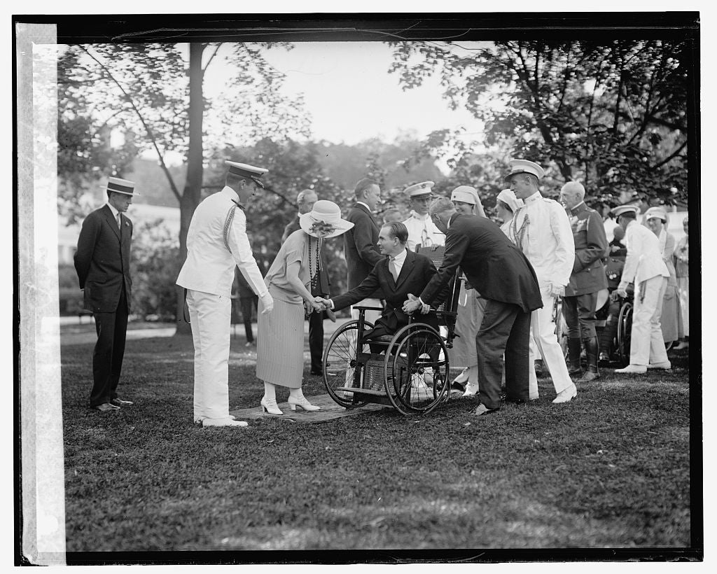 16 x 20 Reprinted Old Photo ofW.H. Garden party, 6/5/24 1924 National Photo Co  37a