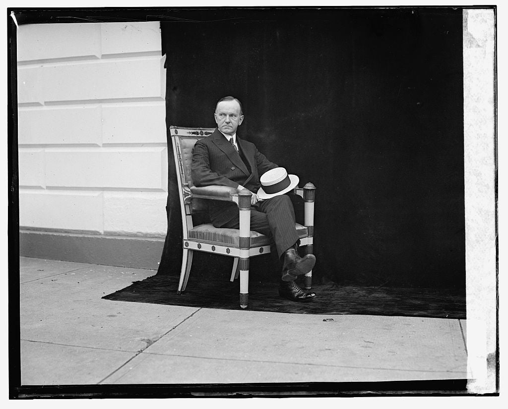 16 x 20 Gallery Wrapped Frame Art Canvas Print of Calvin Coolidge, 5/9/24 1924 National Photo Co  33a