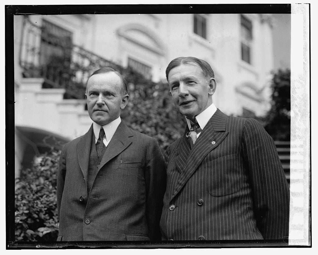 16 x 20 Gallery Wrapped Frame Art Canvas Print of Coolidge & Dawes, 7/1/24 1924 National Photo Co  34a
