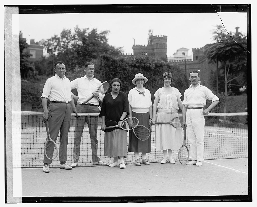 16 x 20 Gallery Wrapped Frame Art Canvas Print of Diplomats, Tennis, 7/2/24 1924 National Photo Co  35a