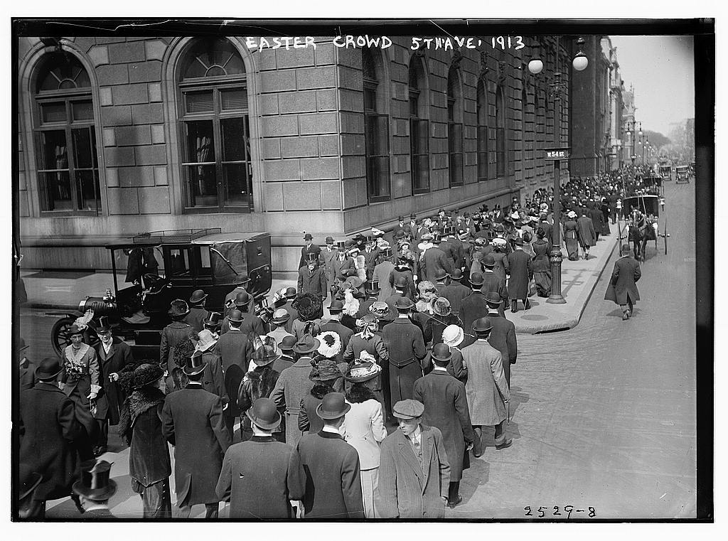 8 x 10 Photo of Easter crowd 5th Ave., 1913 1913 G. Bain Collection 76a