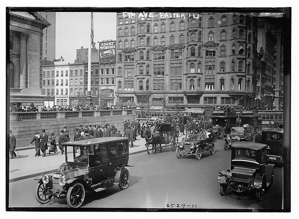 8 x 10 Photo of 5th Ave., Easter,'13 1913 G. Bain Collection 79a