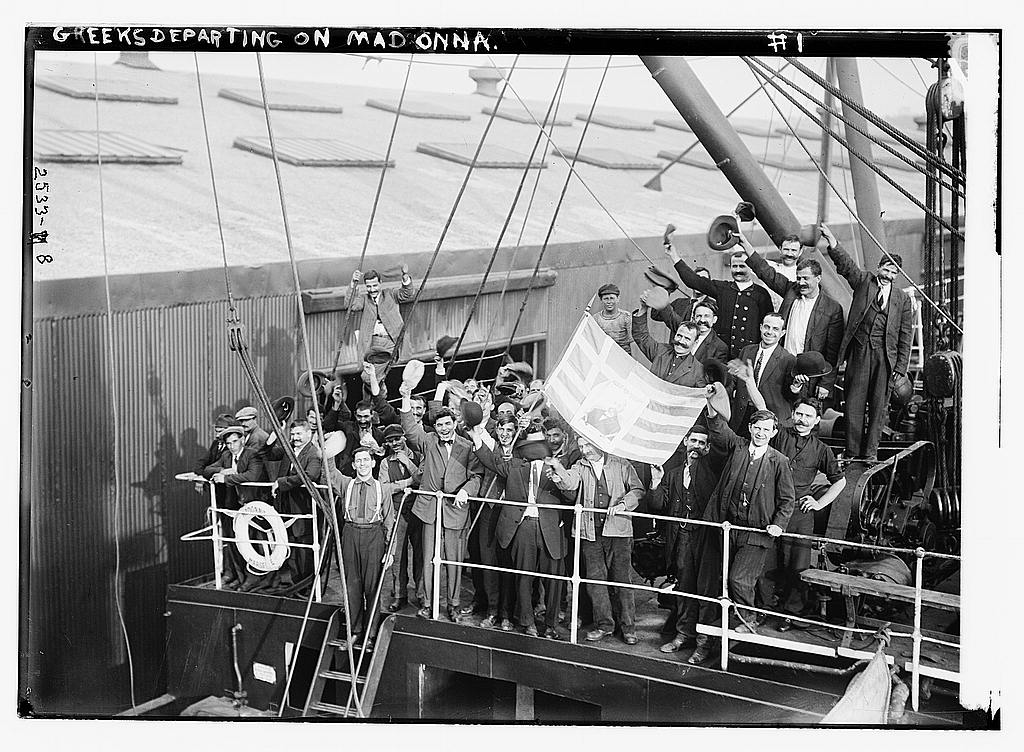 8 x 10 Photo of Greeks departing on MADONNA 1912 G. Bain Collection 61a