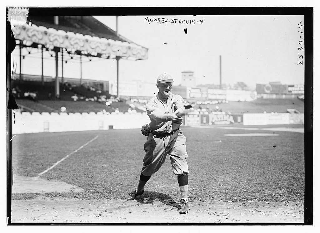 8 x 10 Photo of Mike Mowrey, St. Louis NL baseball  1913 G. Bain Collection 92a