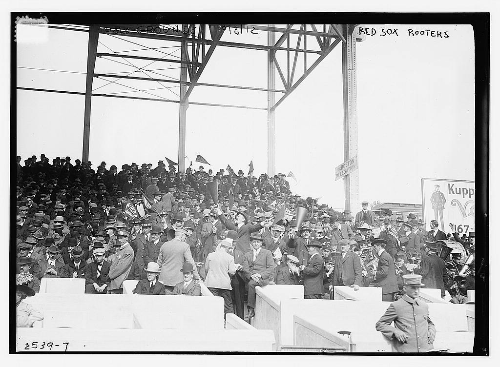 8 x 10 Photo of 1st Game 1912 World Series baseball  1912 G. Bain Collection 37a