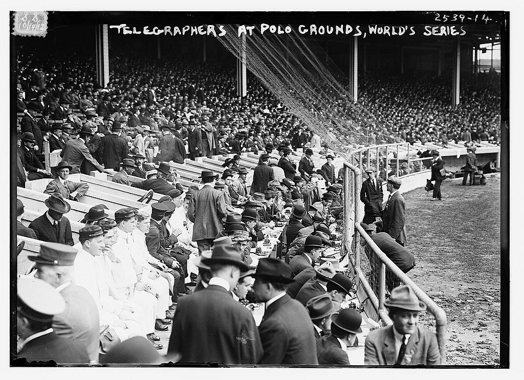 8 x 10 Photo of Telegraphers at Polo Grounds, World Series, 1912 1912 G. Bain Collection 41a