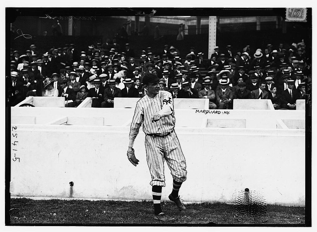 8 x 10 Photo of Rube Marquard, New York NL baseball  1912 G. Bain Collection 47a