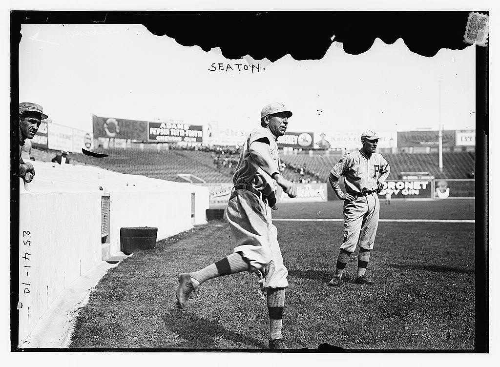 8 x 10 Photo of Tom Seaton, Philadelphia NL baseball  1912 G. Bain Collection 52a