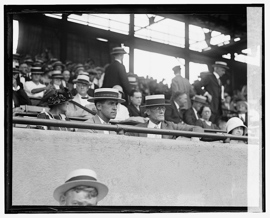 16 x 20 Gallery Wrapped Frame Art Canvas Print of Harris - Grand stand, 7/15/24 1924 National Photo Co  56a