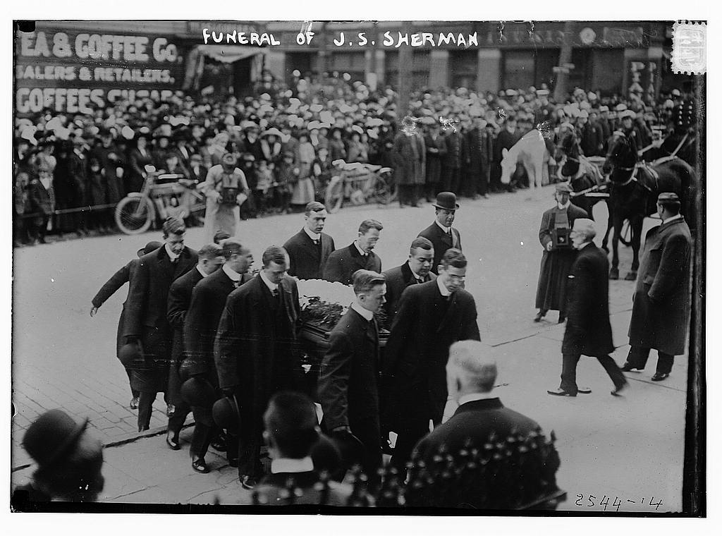 8 x 10 Photo of Funeral of J.S. Sherman 1912 G. Bain Collection 66a