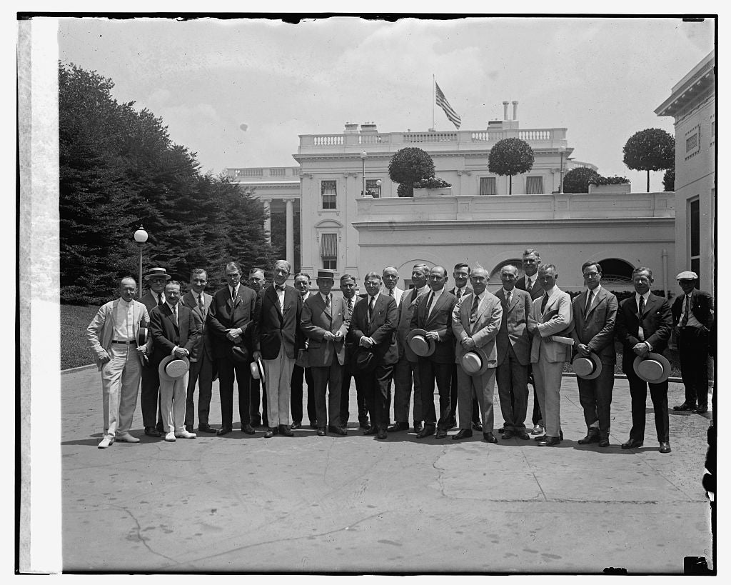 16 x 20 Gallery Wrapped Frame Art Canvas Print of Gen. Frank T. Hines & Council of Medical & Hospital Affairs, 7/23/24 1924 National Photo Co  70a