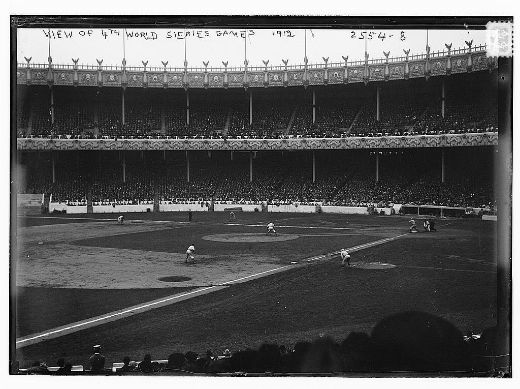 8 x 10 Photo of World Series 1912, 4th game, Polo Grounds, NY baseball  1912 G. Bain Collection 81a