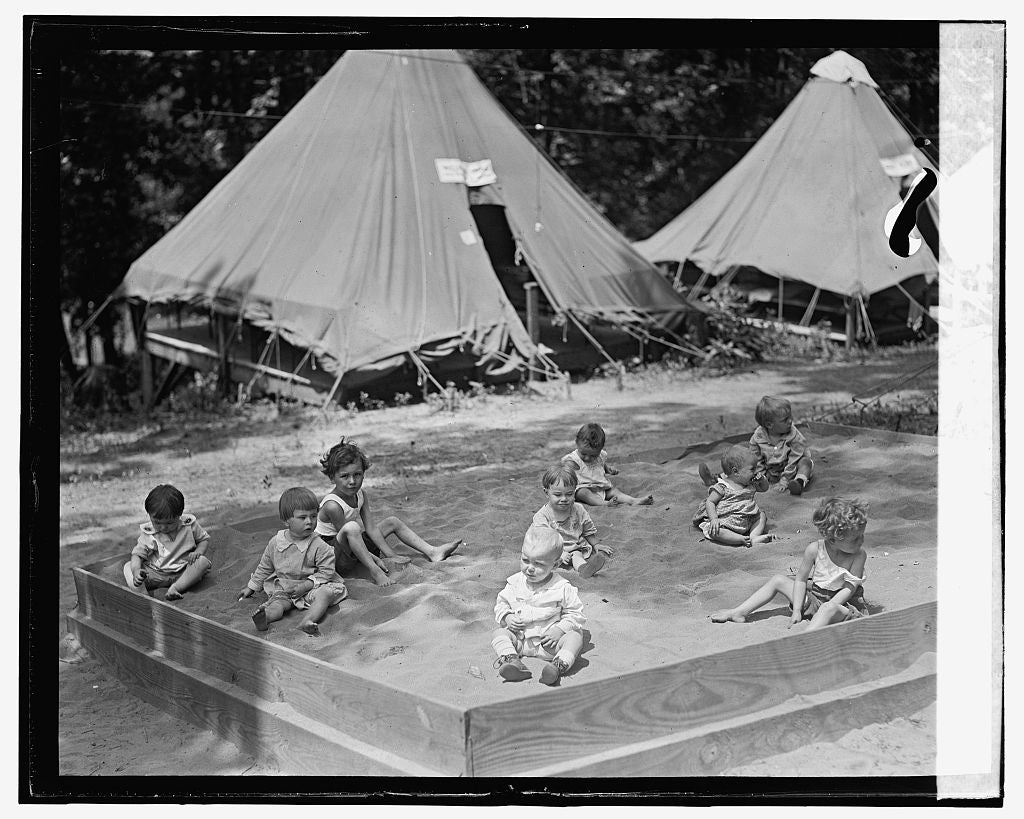 16 x 20 Gallery Wrapped Frame Art Canvas Print of Camp Good Will, 8/1/24 1924 National Photo Co  78a