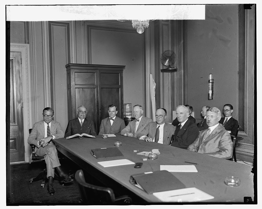 16 x 20 Gallery Wrapped Frame Art Canvas Print of Congressional Committee on U.S. Air Forces, 8/4/24 1924 National Photo Co  53a