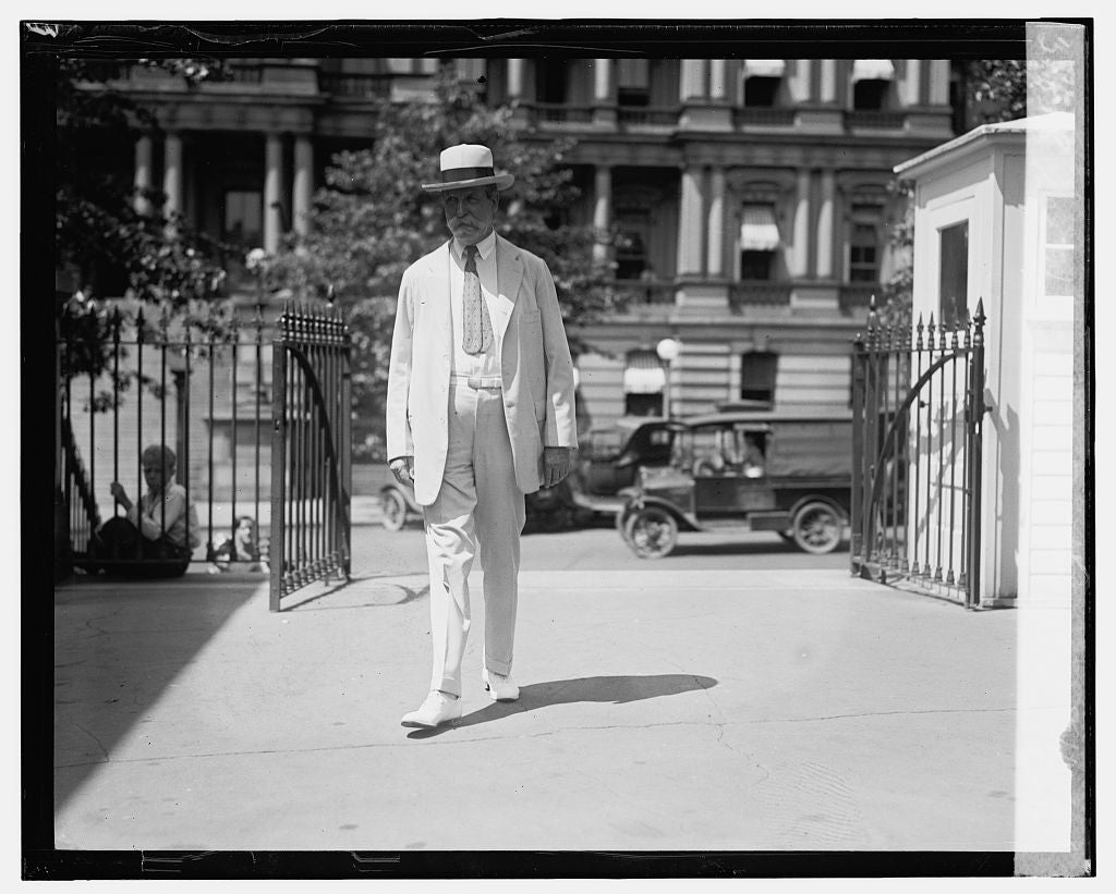 16 x 20 Gallery Wrapped Frame Art Canvas Print of Sec. Hughes on way to cabinet meeting, 8/15/24 1924 National Photo Co  23a