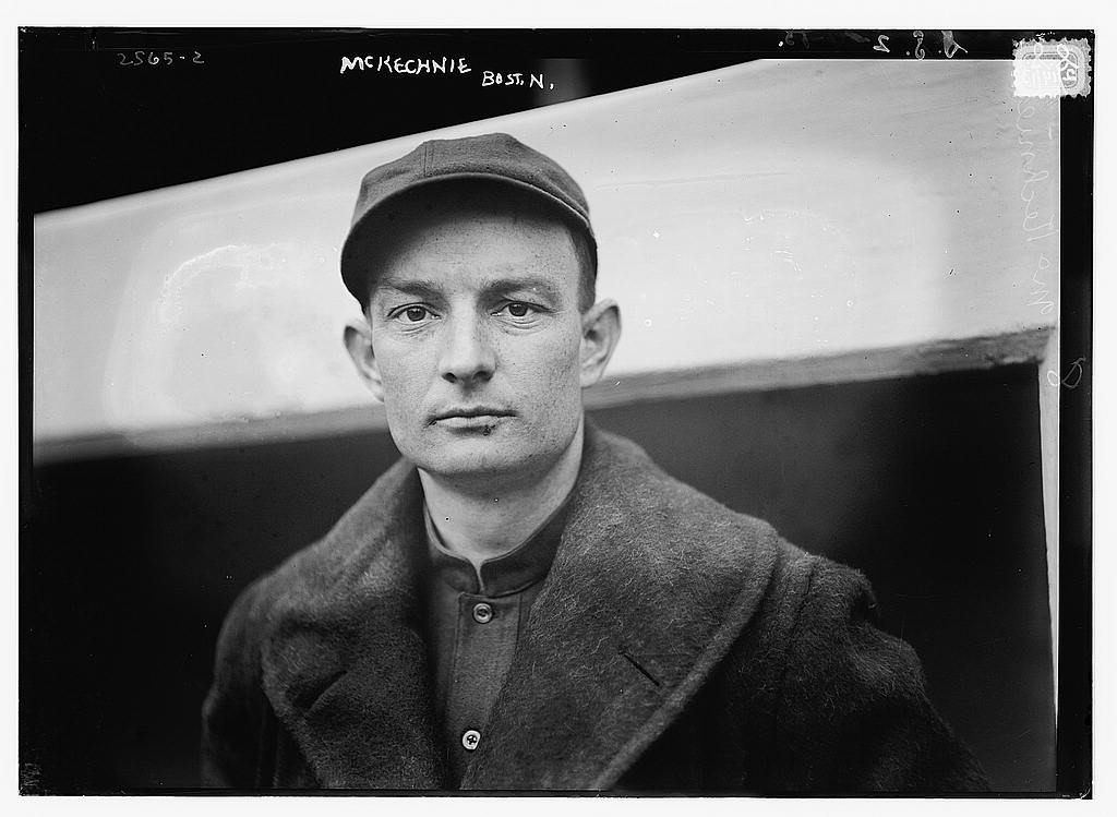 8 x 10 Photo of Bill McKechnie, Boston NL baseball  1913 G. Bain Collection 59a