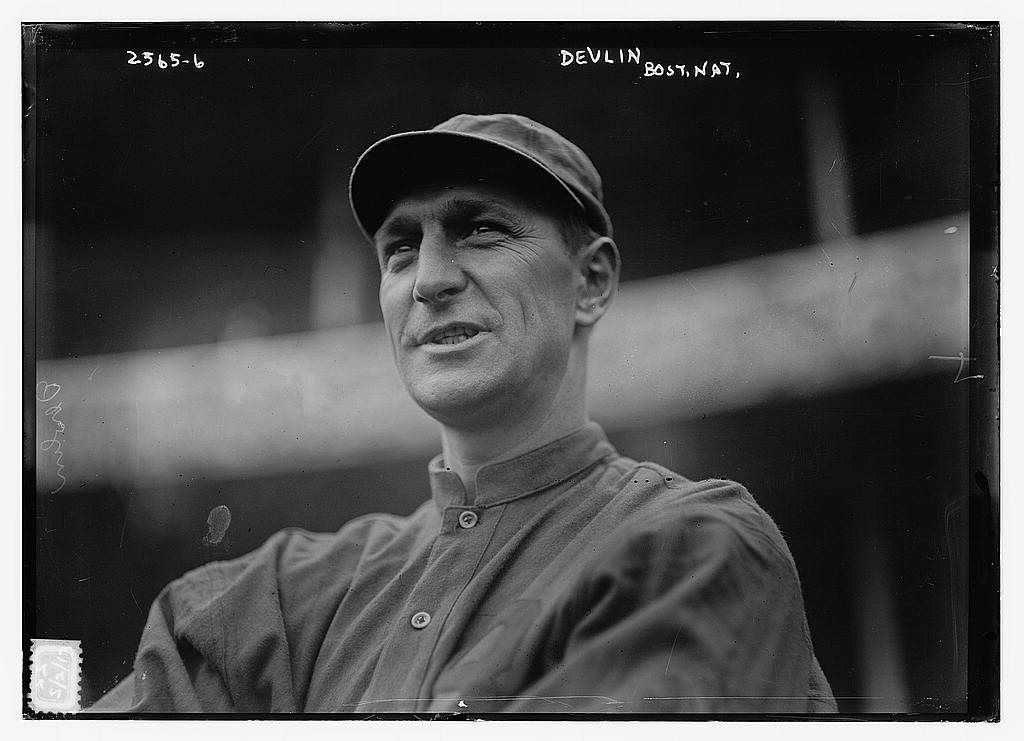 8 x 10 Photo of Art Devlin, Boston NL, at Polo Grounds, NY baseball  1913 G. Bain Collection 62a