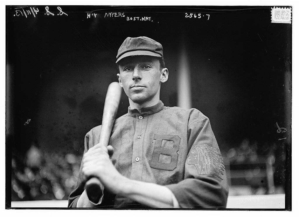8 x 10 Photo of Hap Myers, Boston NL baseball  1913 G. Bain Collection 63a