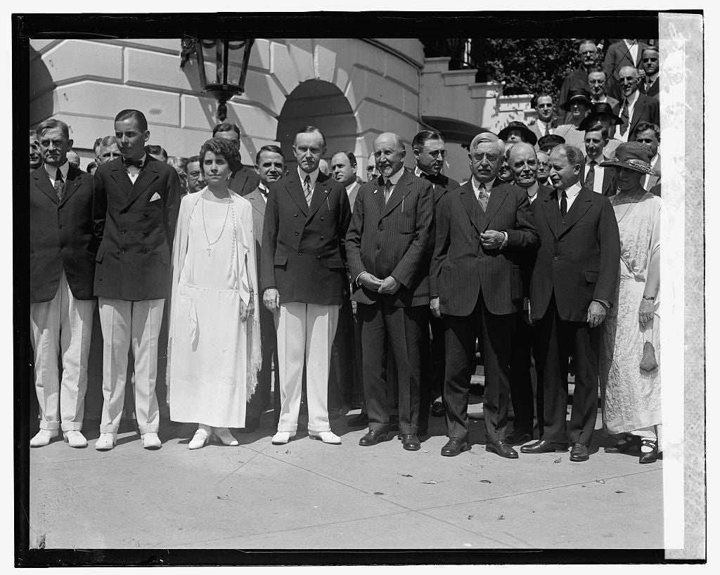 16 x 20 Gallery Wrapped Frame Art Canvas Print of After nomination luncheon of Pres. Coolidge, 8/14/24 1924 National Photo Co  26a