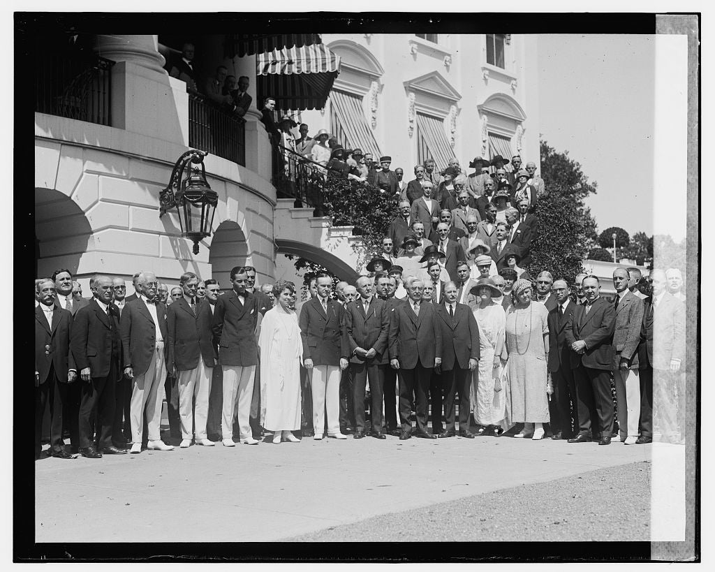 16 x 20 Gallery Wrapped Frame Art Canvas Print of After nomination luncheon of Pres. Coolidge, 8/14/24 1924 National Photo Co  27a