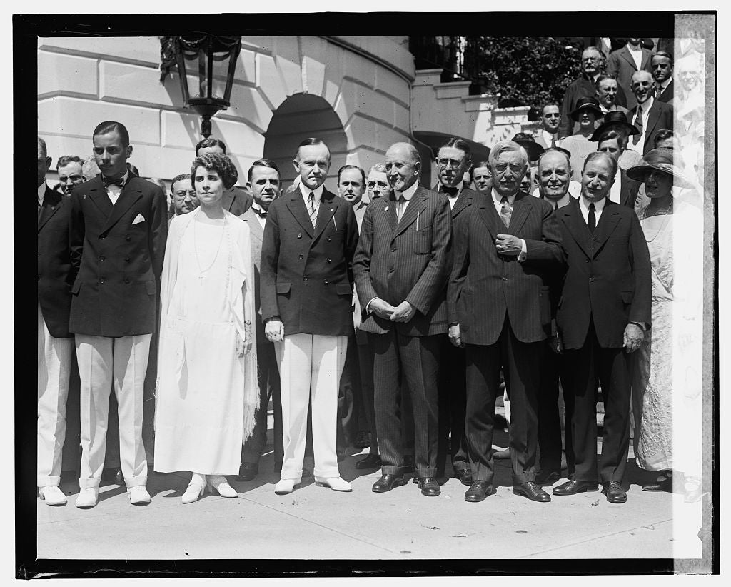 16 x 20 Gallery Wrapped Frame Art Canvas Print of After nomination luncheon of Pres. Coolidge, 8/14/24 1924 National Photo Co  28a