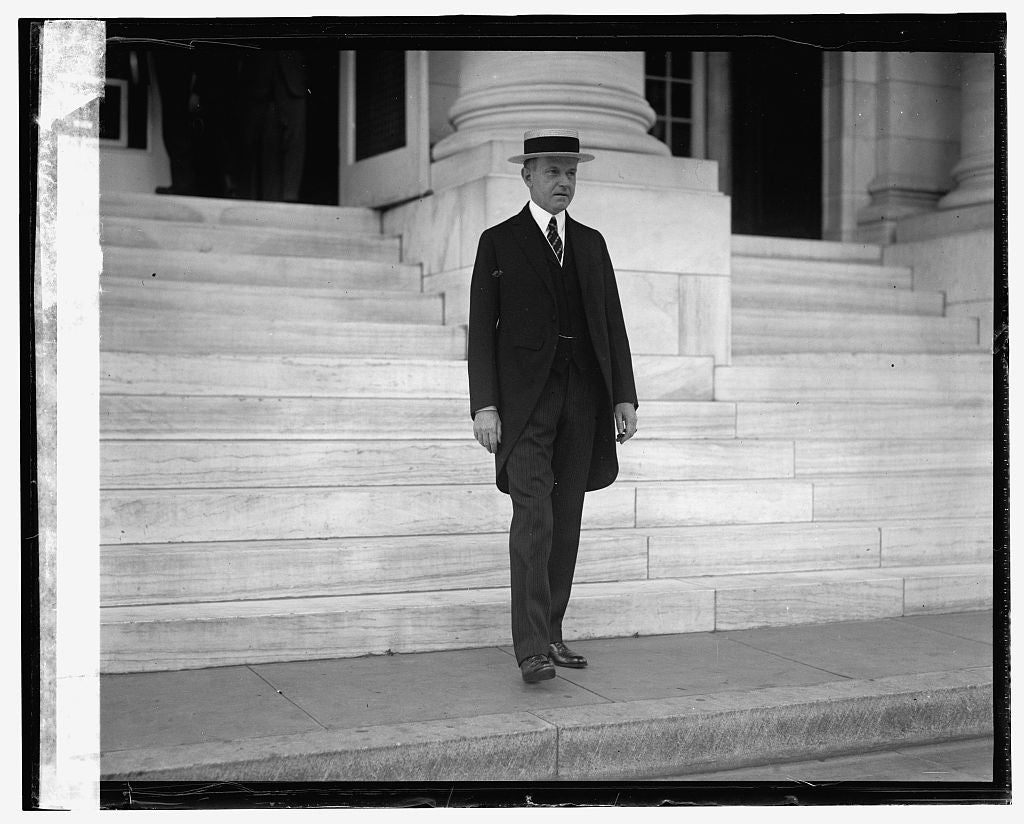 16 x 20 Gallery Wrapped Frame Art Canvas Print of Pres. Coolidge 1924 National Photo Co  89a