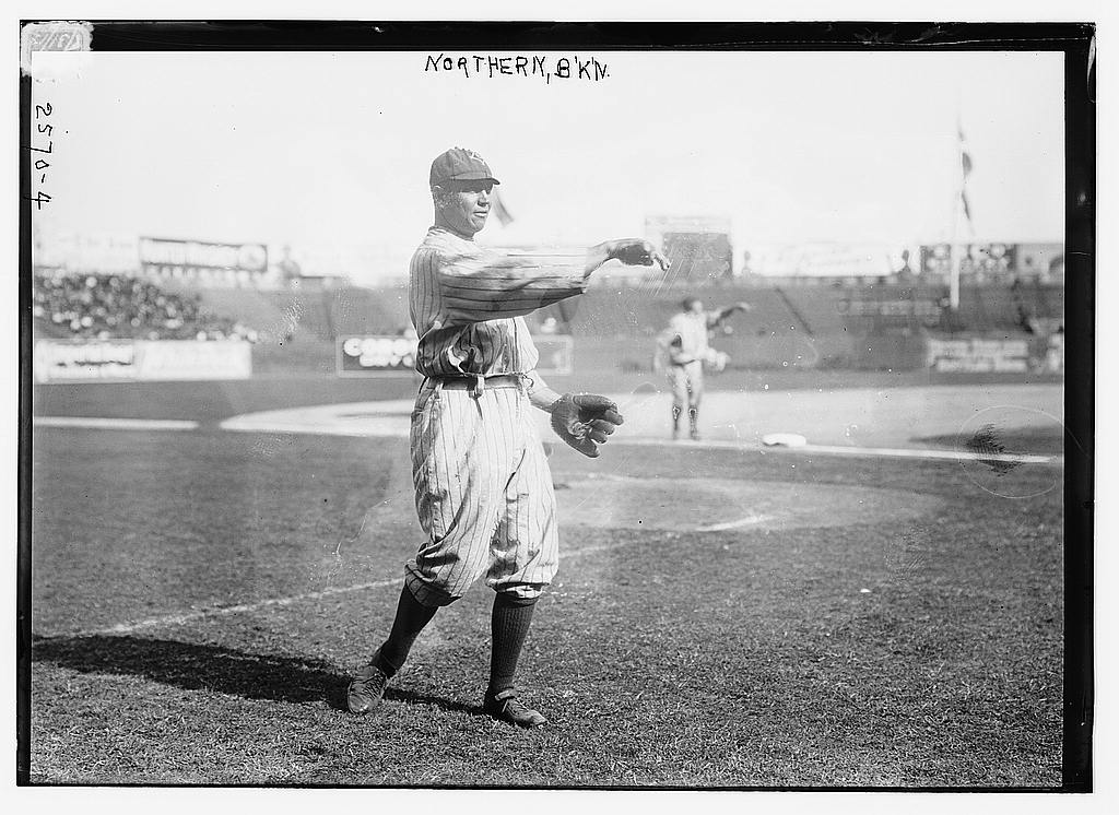 8 x 10 Photo of Ed Phelps, Brooklyn NL baseball  1912 G. Bain Collection 02a