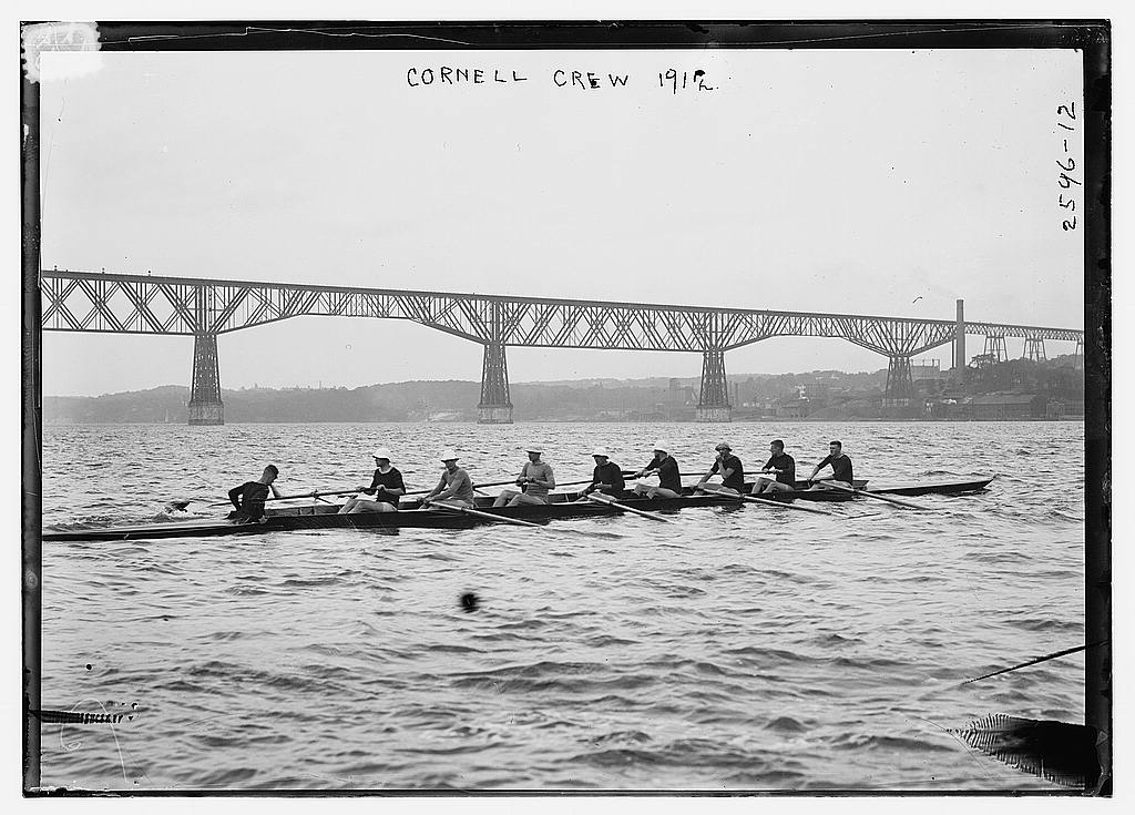 8 x 10 Photo of Cornell crew 1912 G. Bain Collection 31a