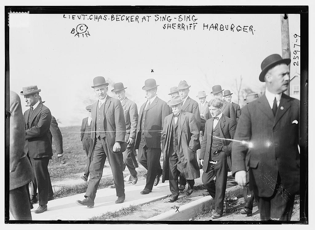 8 x 10 Photo of Lieut. Chas. Becker at Sing-Sing, Sheriff Harburger 1912 G. Bain Collection 32a