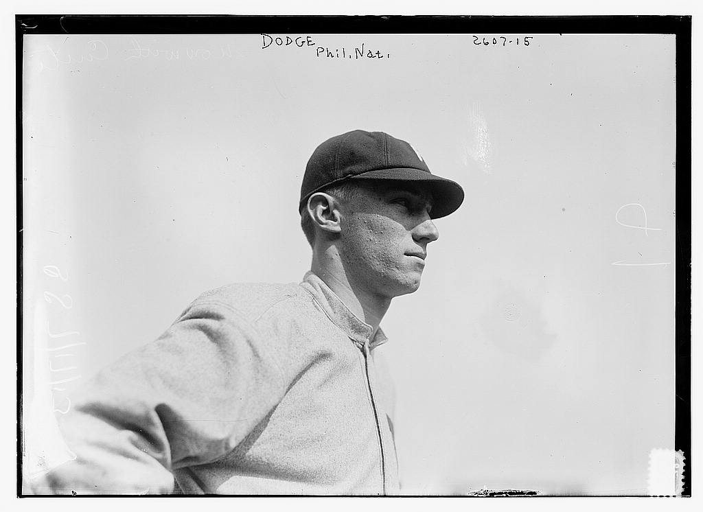 8 x 10 Photo of John Dodge, Philadelphia NL baseball  1913 G. Bain Collection 99a