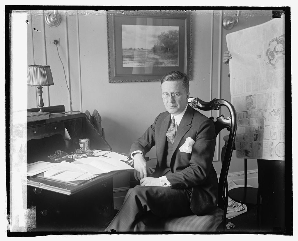 16 x 20 Reprinted Old Photo of Weymouth Kirkland, Counsel for Rep. Natl. Com., 10/23/24 1924 National Photo Co  20a