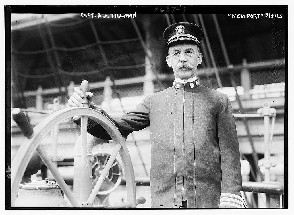 8 x 10 Photo of Capt. B.H. Tillman NEWPORT 1913 G. Bain Collection 98a