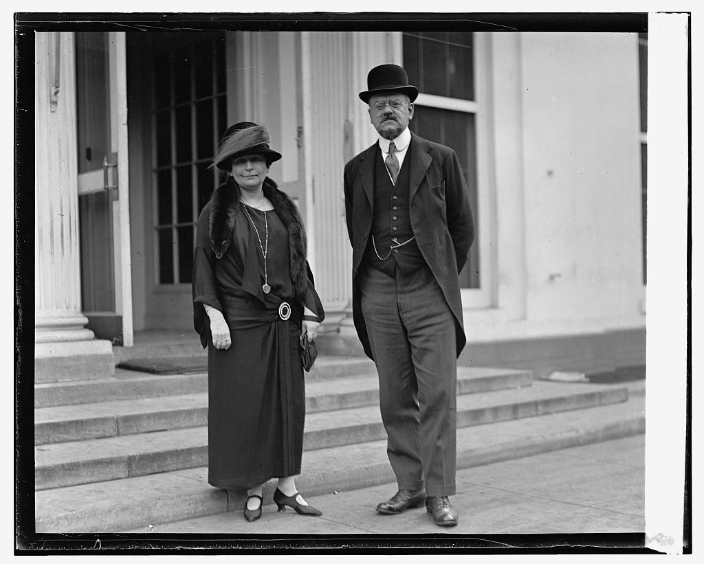16 x 20 Reprinted Old Photo of John D. Prince & Mrs. Prince, 10/29/24 1924 National Photo Co  86a