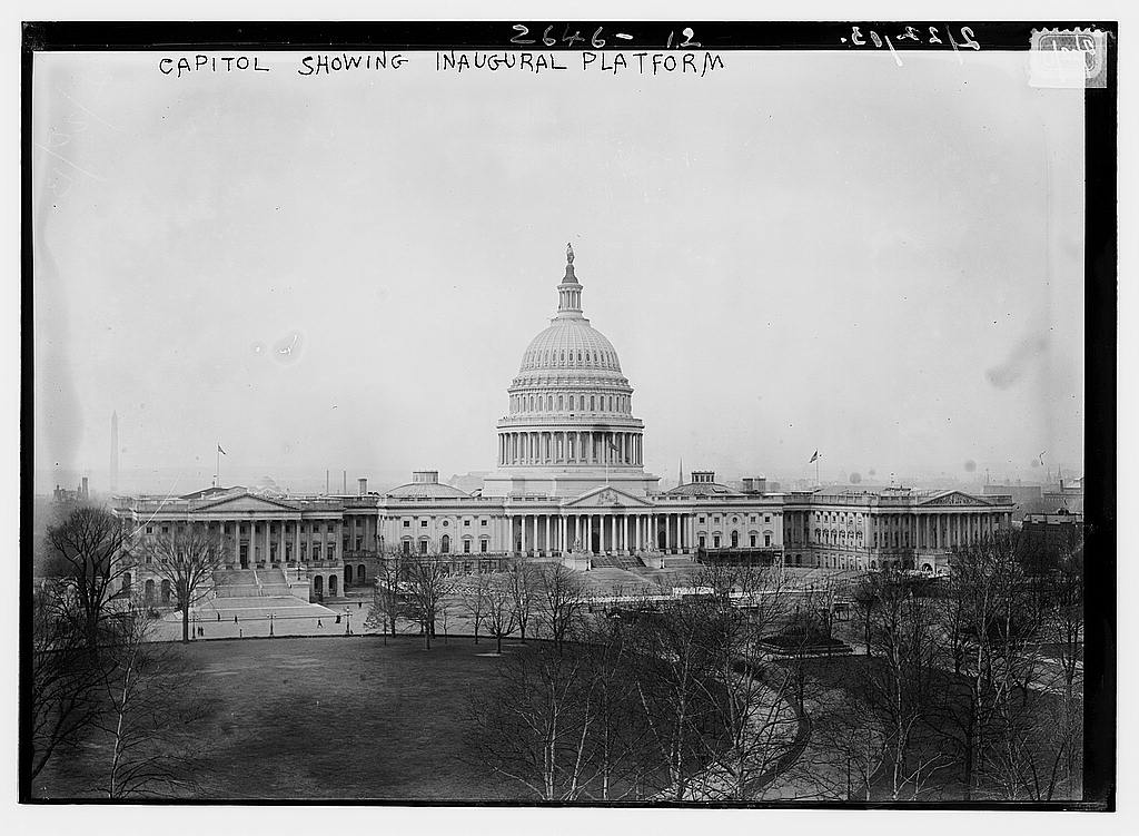 8 x 10 Photo of Capitol showing inaugural platform 1913 G. Bain Collection 16a