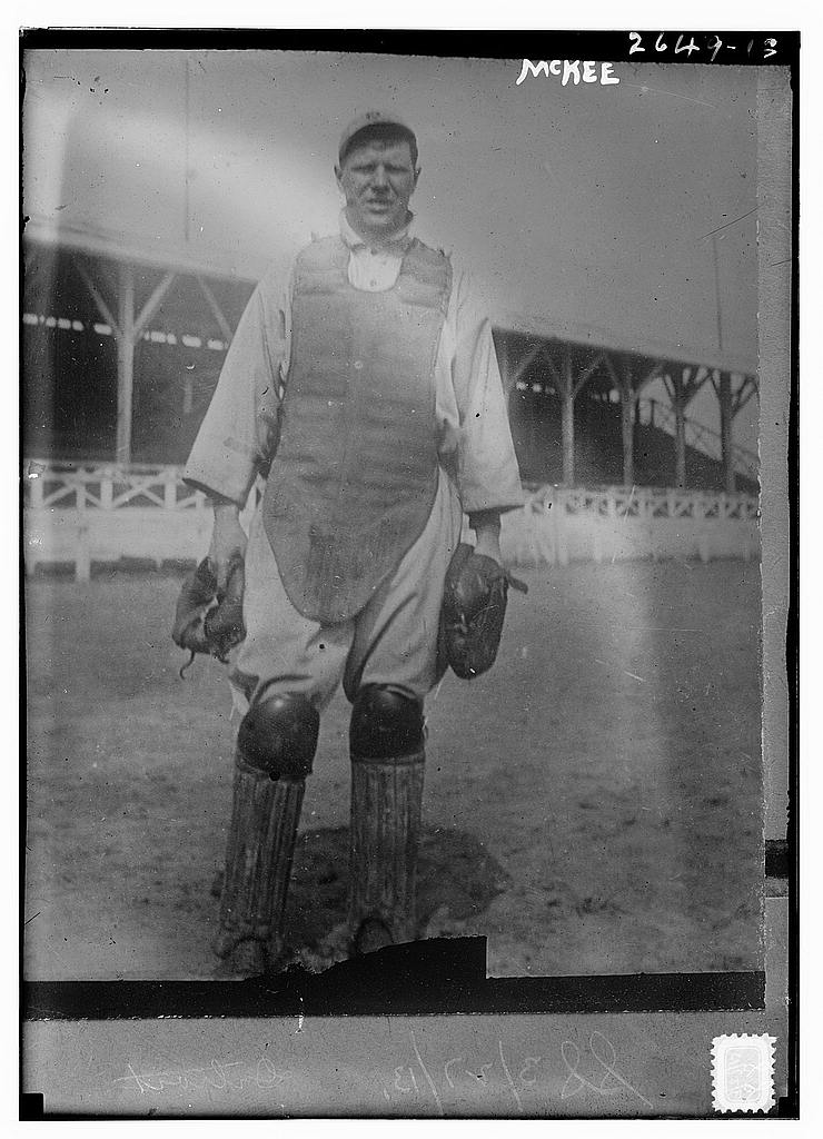 "8 x 10 Photo of Raymond ""Red"" McKee, Detroit AL baseball  1913 G. Bain Collection 41a"