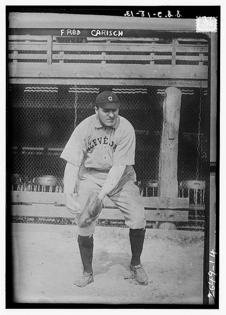 8 x 10 Photo of Fred Carisch, Cleveland AL baseball  1913 G. Bain Collection 42a