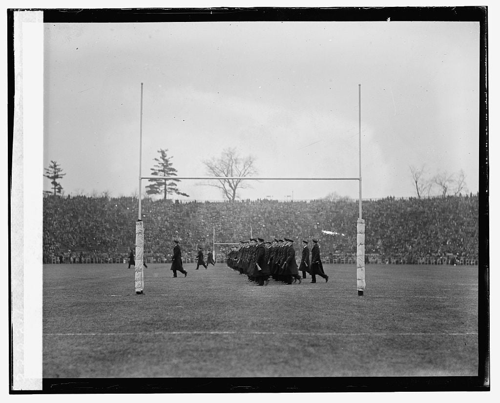 16 x 20 Reprinted Old Photo of Midshipmen at Army & Navy game, 11/29/24 1924 National Photo Co  91a