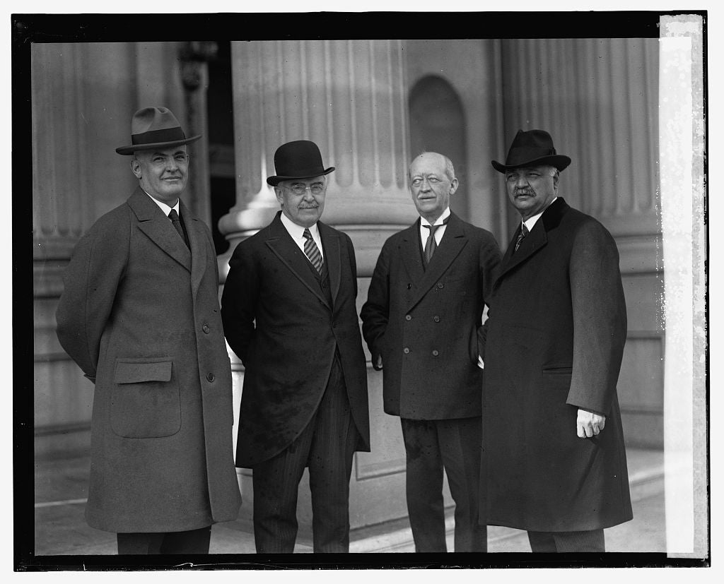 16 x 20 Reprinted Old Photo of Senators Rice W. Means, Wm. M. Butler, Jesse H. Metcalf, & Sen. Curtis, 12/1/24 1924 National Photo Co  23a