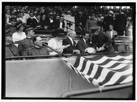 8 x 10 Reprinted Old Photo of Wilison, Woodrow. At Baseball Game 1937 Harris & Ewing 74a