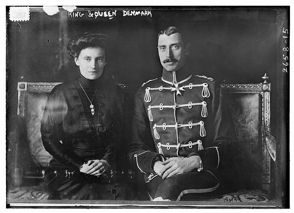 8 x 10 Photo of King & Queen Denmark 1913 G. Bain Collection 69a