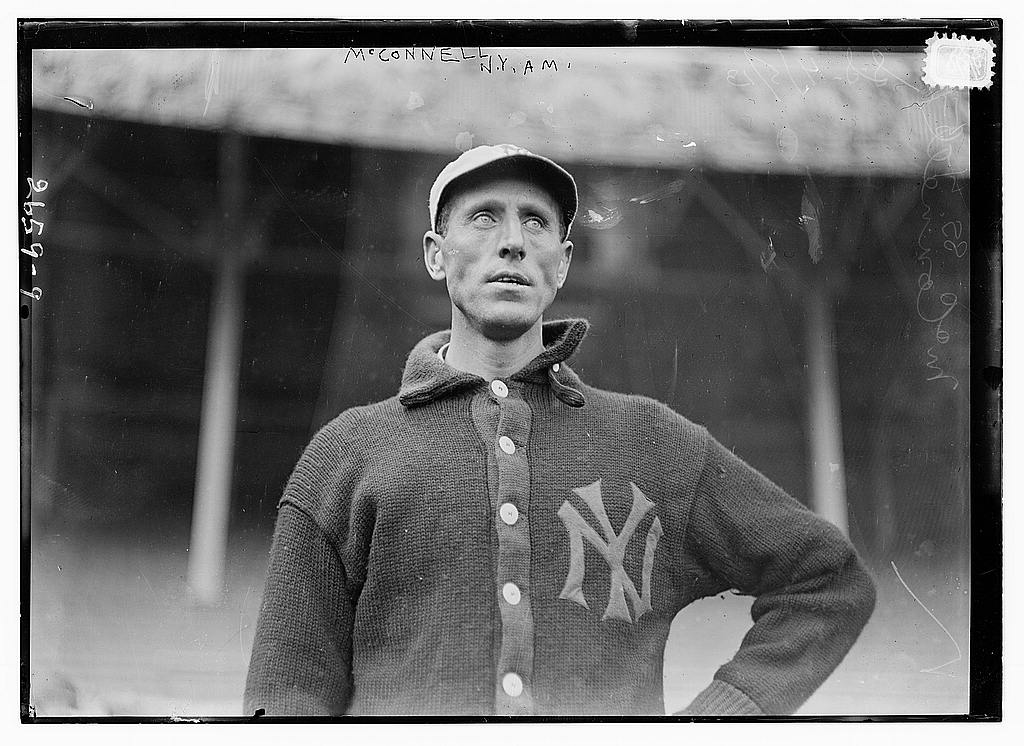 8 x 10 Photo of George McConnell, New York AL baseball  1912 G. Bain Collection 20a