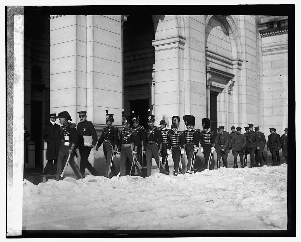 16 x 20 Reprinted Old Photo ofMembers of State Fencibles of PA. at Union Station, 1/5/25 1925 National Photo Co  92a